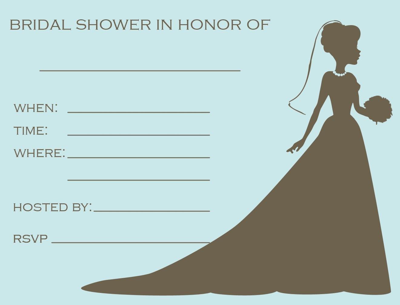 Bridal Shower Free Template Invitation