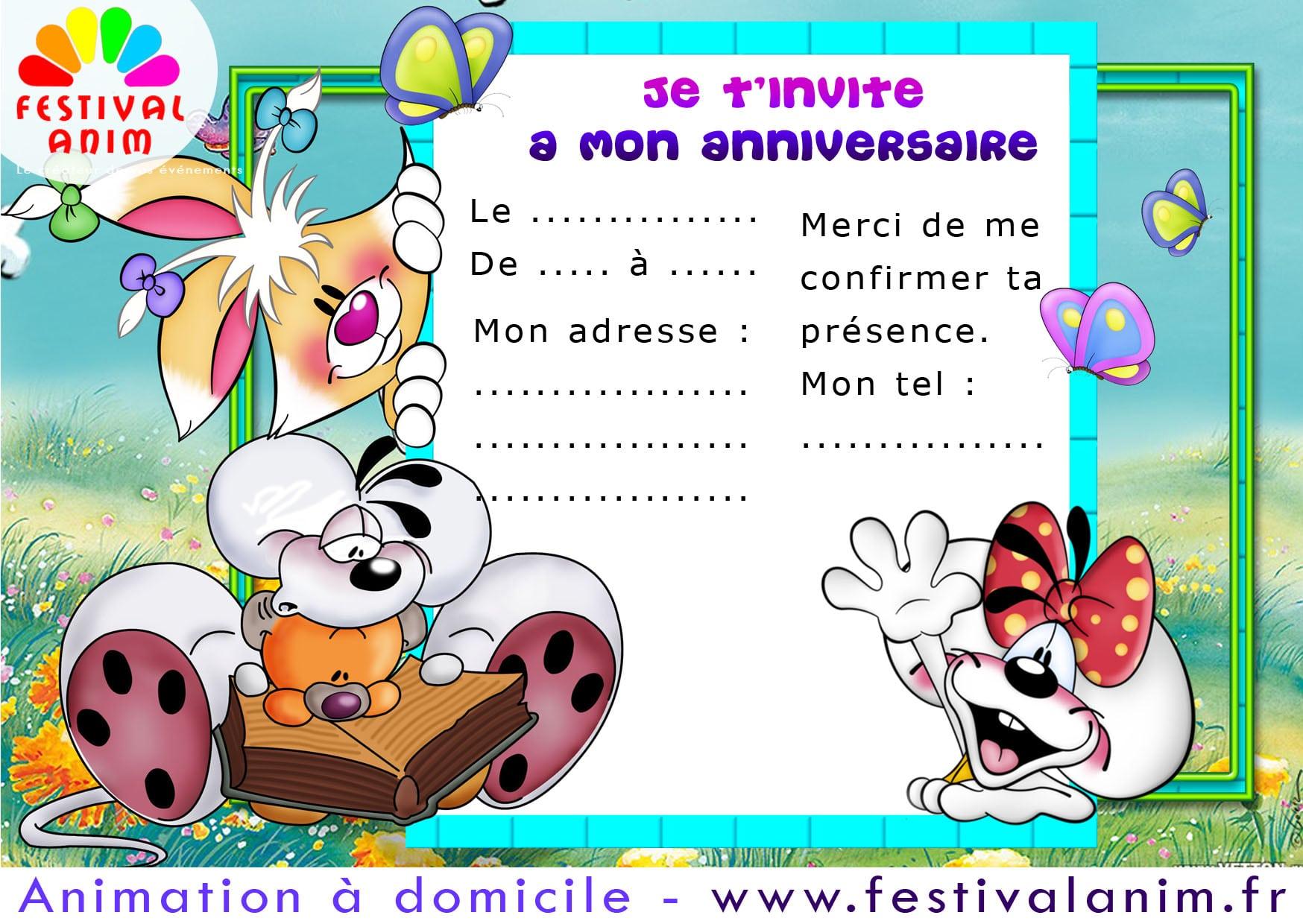 Carte Invitation Anniversaire Gratuite   Imprimer