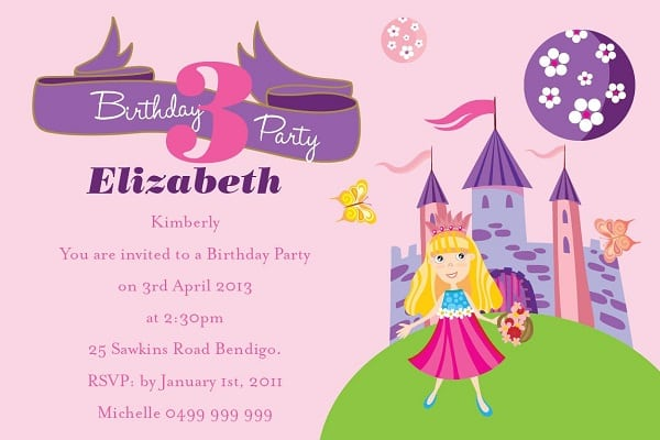 Childrens Birthday Invitation Template