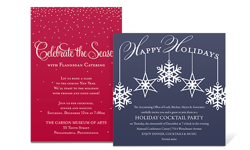 Christmas Invitation In July – Sample Holiday Invitation