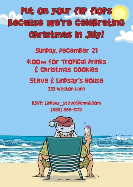 Christmas Invitation In July