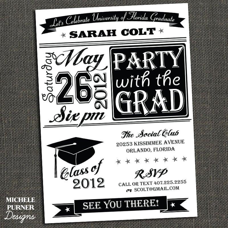 College Graduation Party Invitations Free Printable