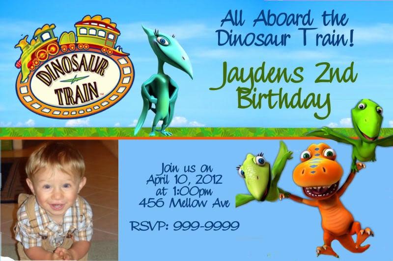 Dinosaur Train Invitations Personalized
