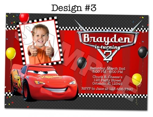 Disney Cars Party Invitations Printable