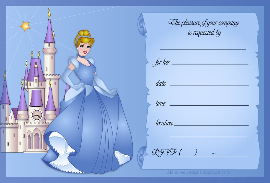disney invitation template