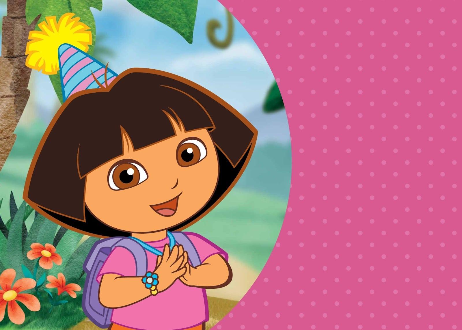 Dora Explorer Invitation Template