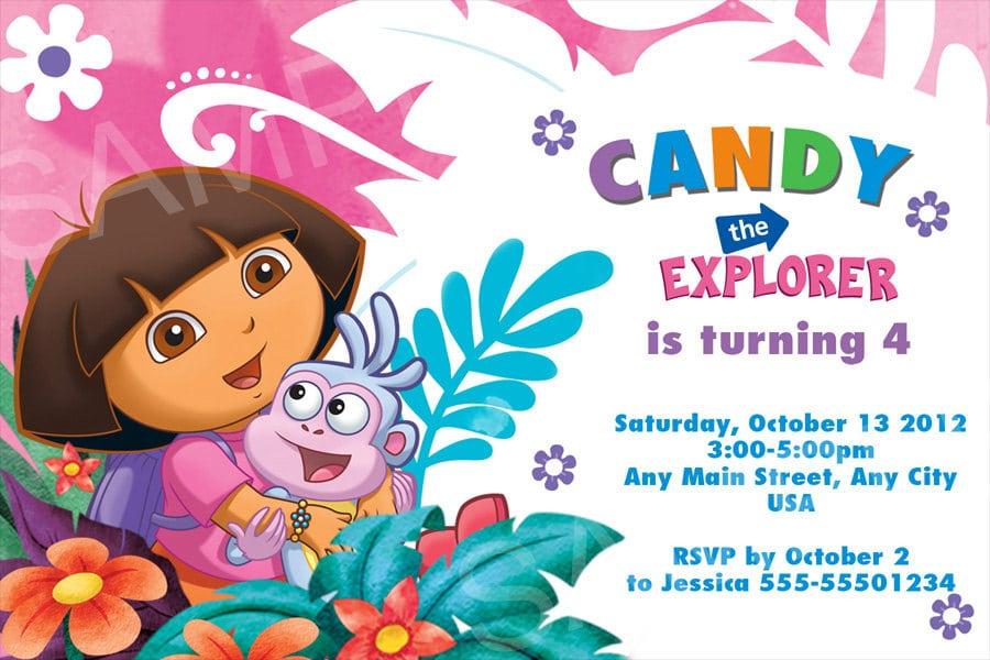 Dora The Explorer Invitations is amazing invitation example