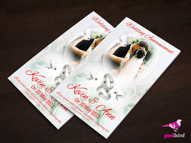 Download Free Wedding Invitation Templates Psd