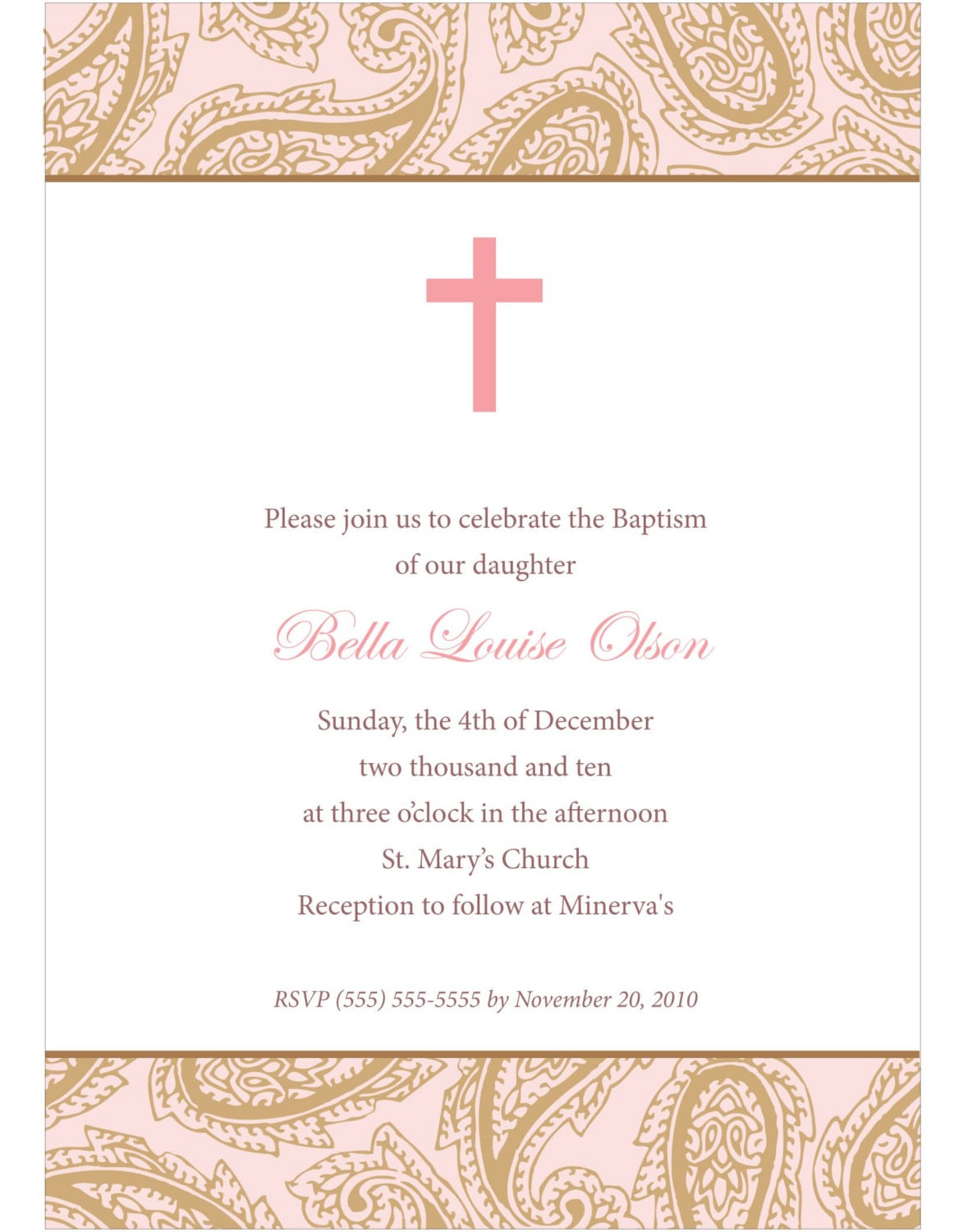 Downloadable Baptism Invitation Templates