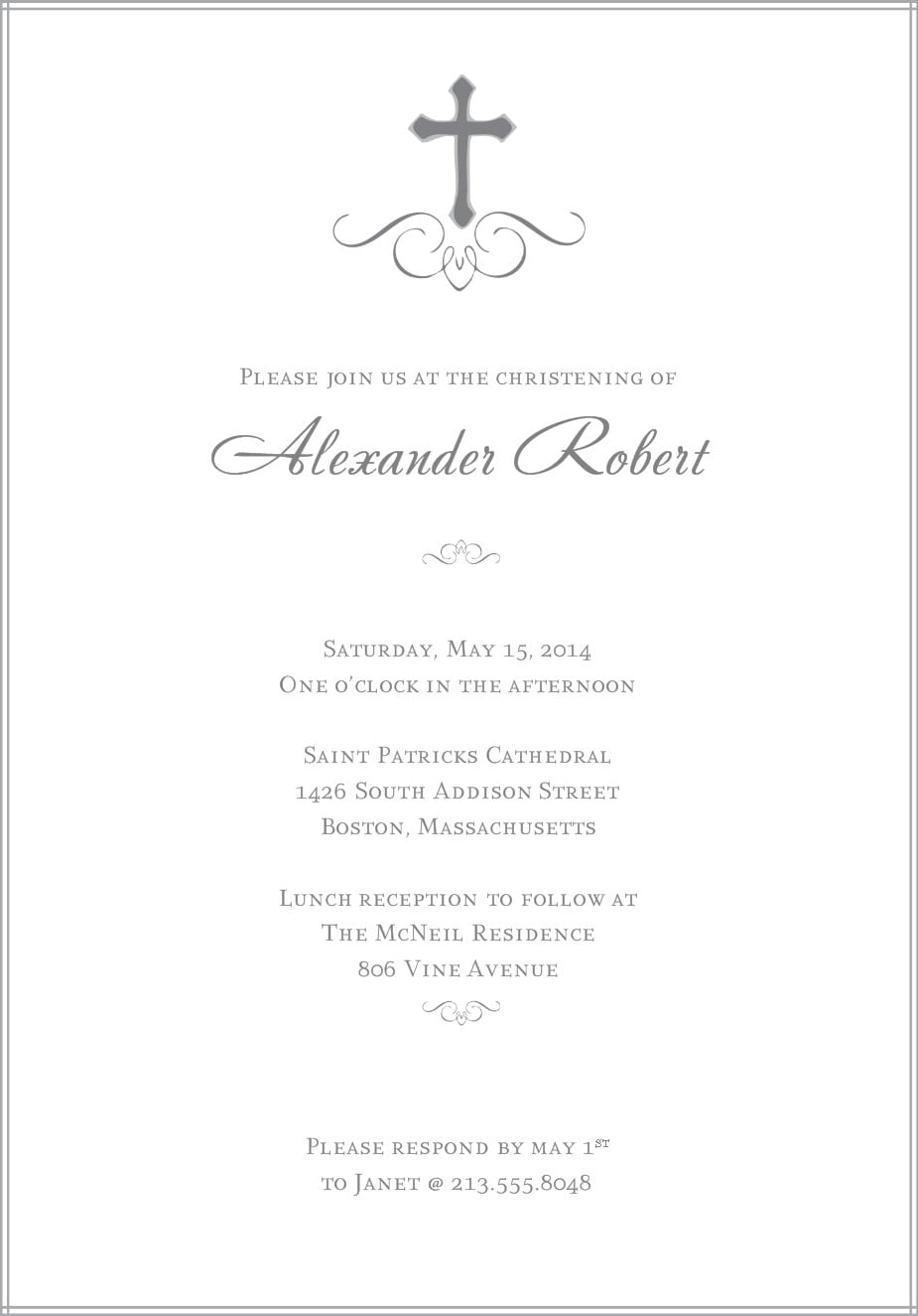 Downloadable Christening Invitations