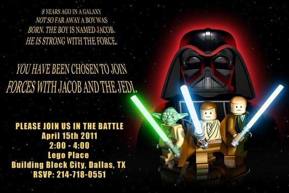 Downloadable Star Wars Birthday Invitations