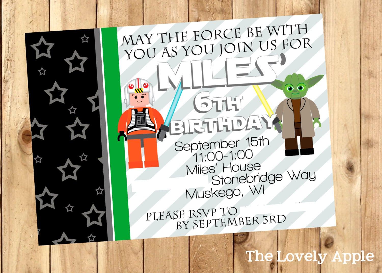 Downloadable Star Wars Invitation
