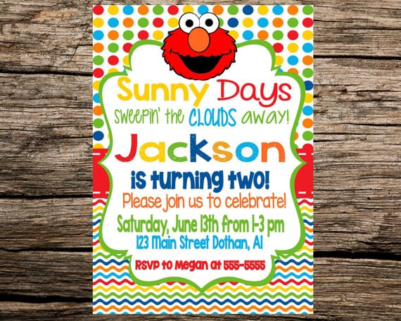 Elmo Email Birthday Invitation