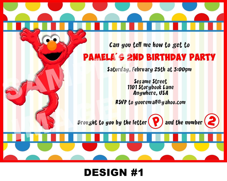 Email Elmo Invitation