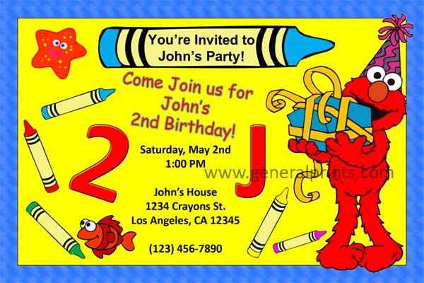 Email Elmo Invitations