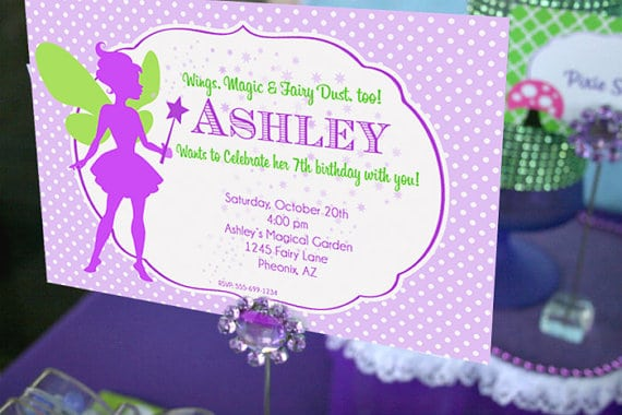 Fairy Birthday Invitation Template Free