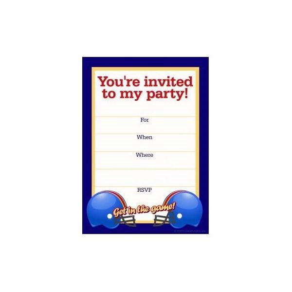 Football Birthday Invitation Template Word
