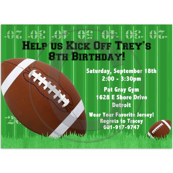 Football Birthday Invitation Templates Free