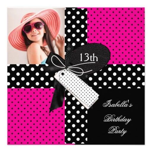 Free 13th Birthday Invitation Templates