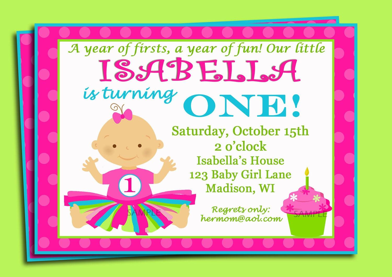 Free 1st Birthday Invitation Samples