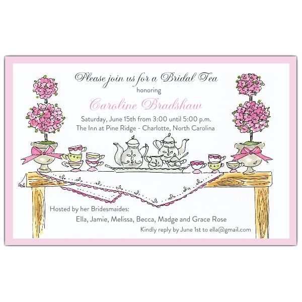 High Tea Invitation Template – Tea Party Invitations Free Template