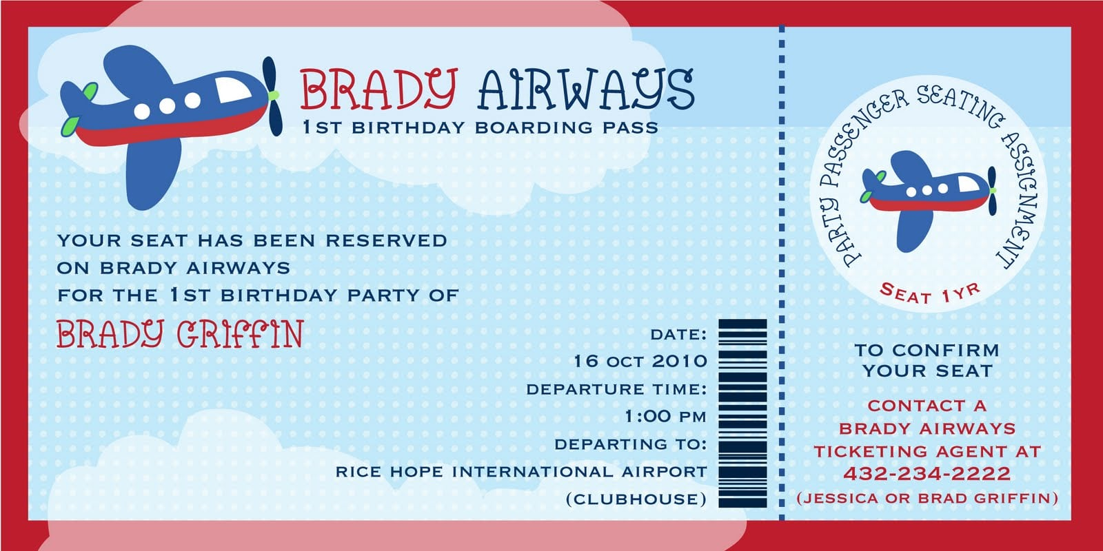 Ticket Birthday Invitation Template Free