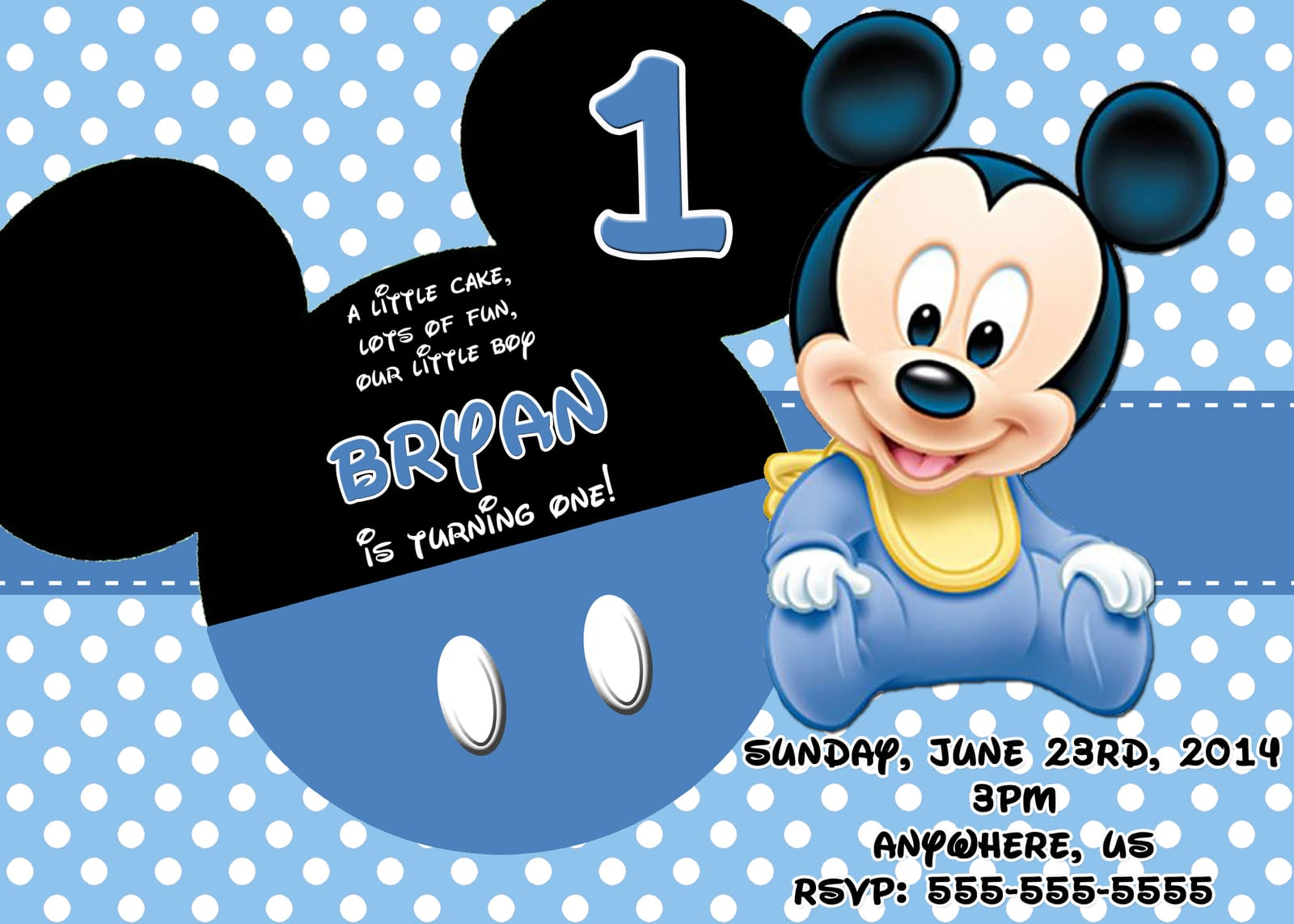 Free Baby Mickey Mouse Invitation Cards