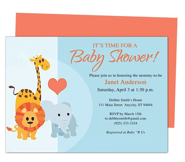 Free Baby Shower Invitation Templates In Word