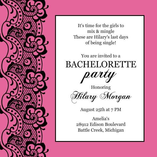 Free Bachelorette Invitation