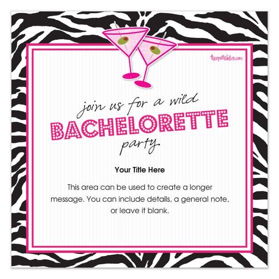 Free Bachelorette Party Invitation Free Template