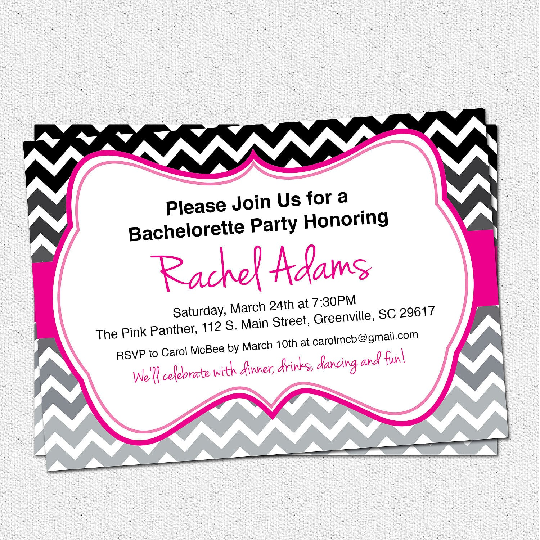 Free Bachelorette Party Invitation Templates Word