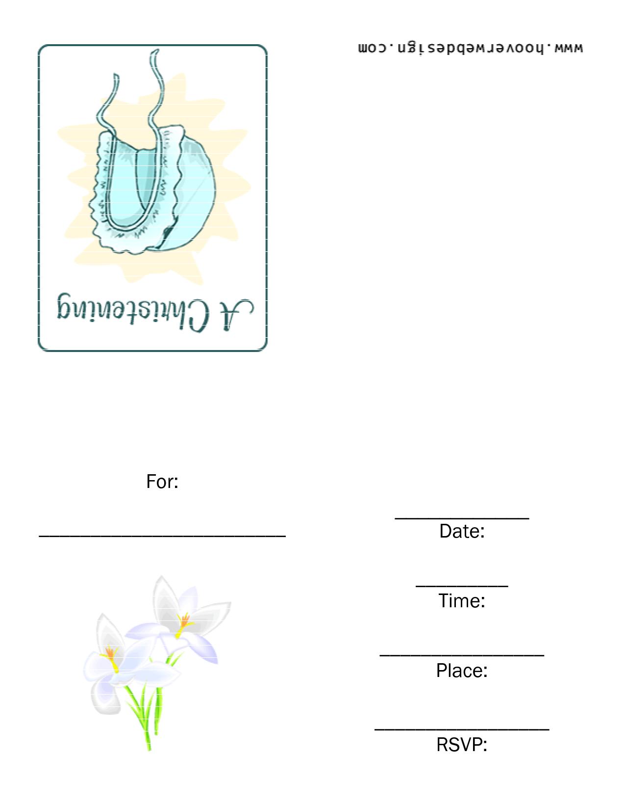 Free Baptism Invitation Template Printable