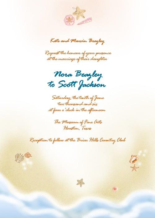 Free Beach Wedding Invitation Com