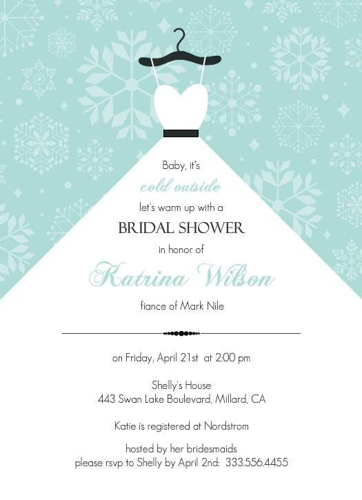 Free Bridal Shower Invitation Template For Word