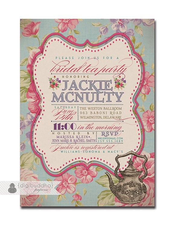 Free Bridal Tea Invitation Templates
