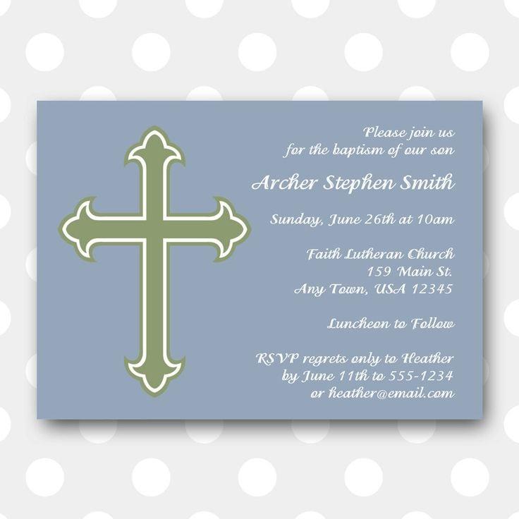 Free Customize Printable Baptism Invitation