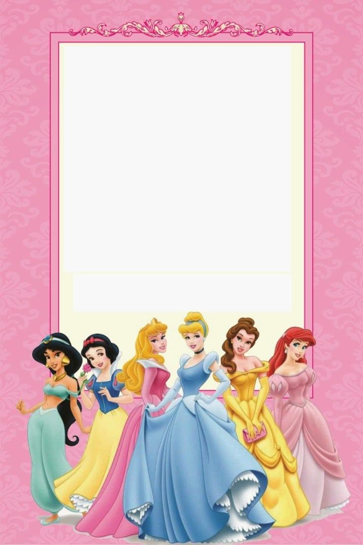 Free Disney Princess Invitation Cards Template