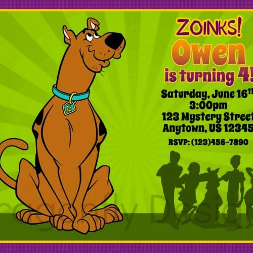 Free Download Scooby Doo Birthday Invitation