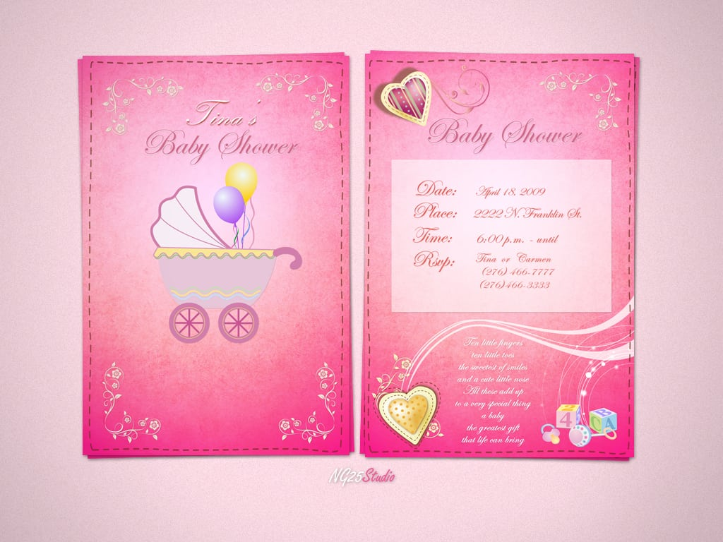 Free Downloadable Baby Shower Invitation Cards
