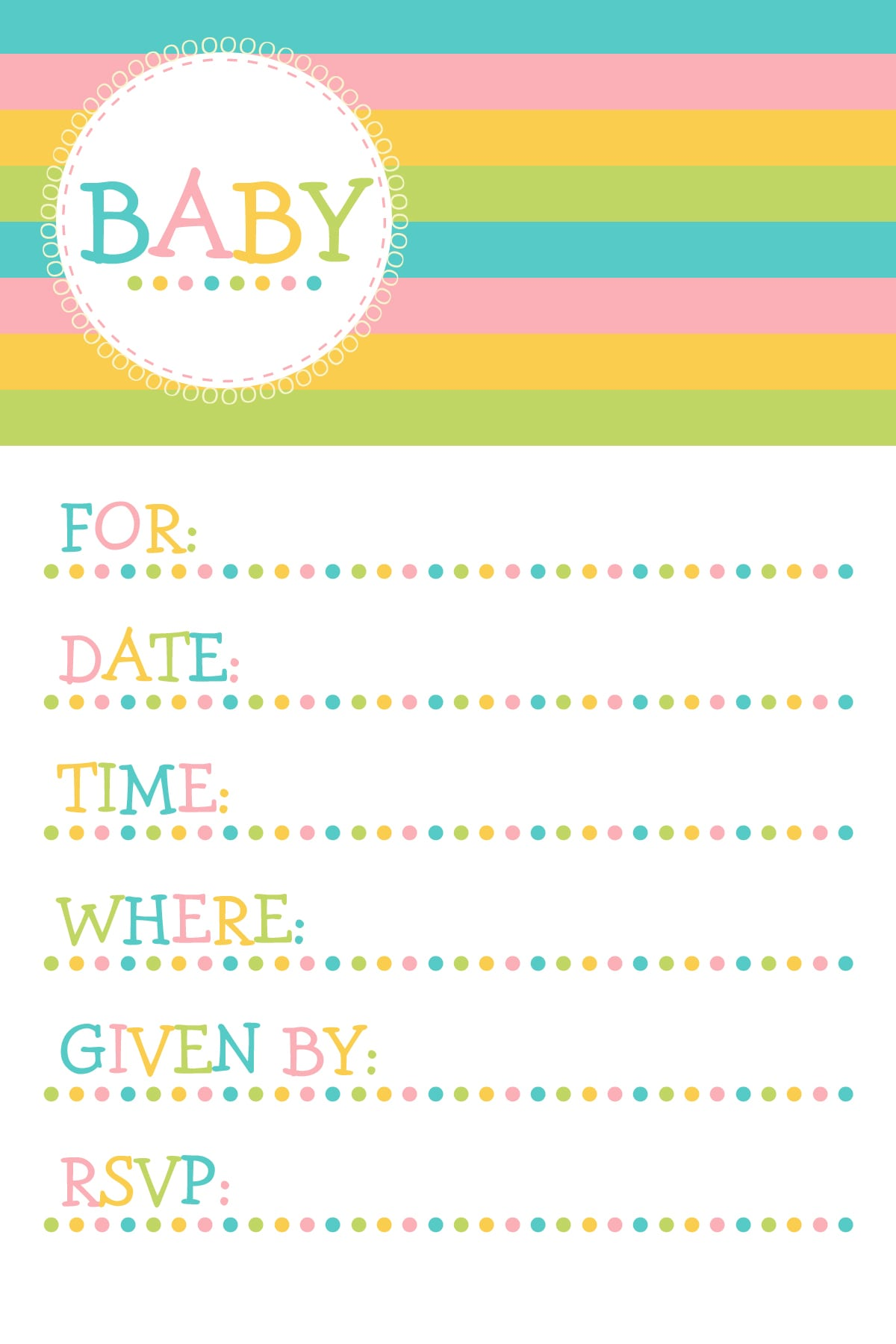 Free Downloadable Boy Baby Shower Invitation