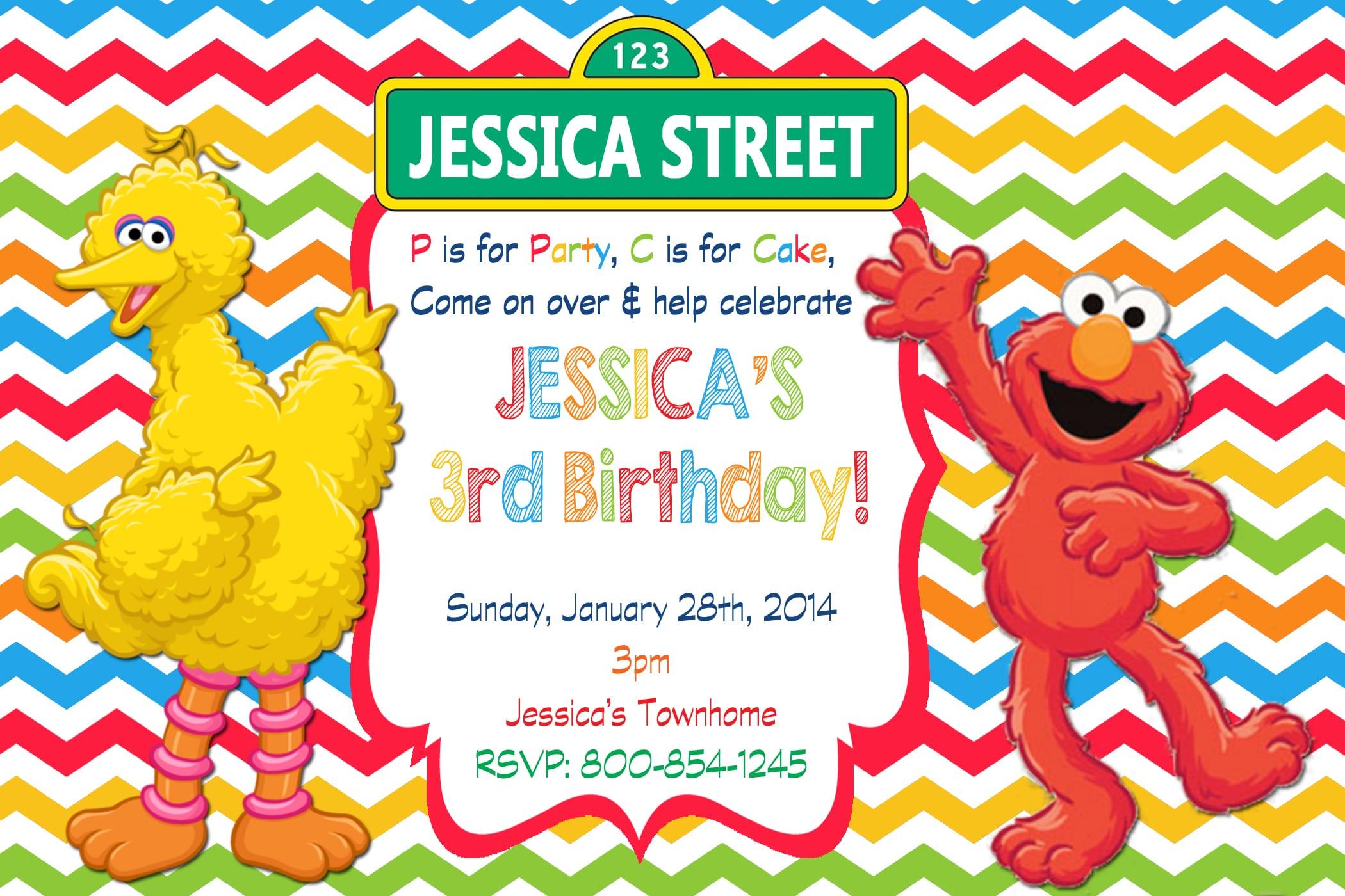 Free Elmo Email Invitations