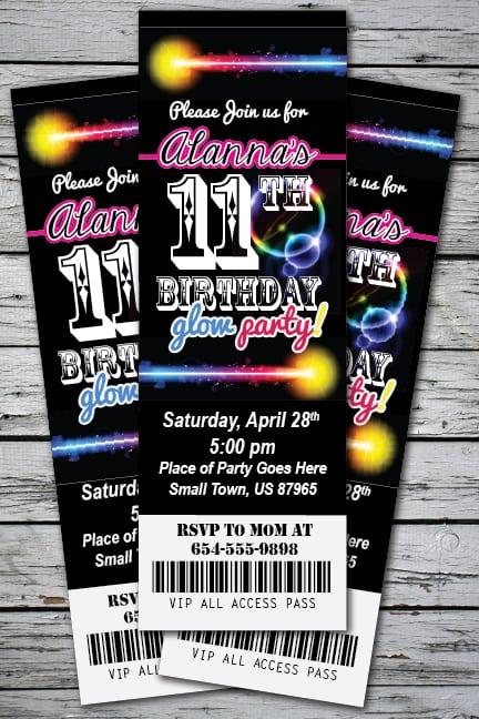 Free Glow Bowling Invitation