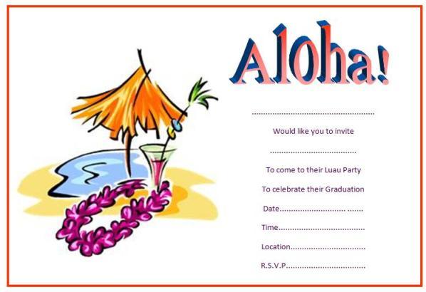 Free Hawaiian Invitation Printable