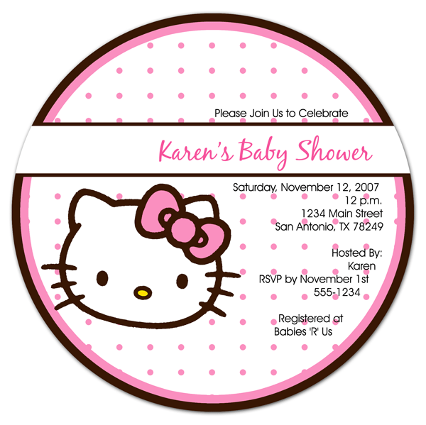 Free Hello Kitty Baby Shower Invitation Templates