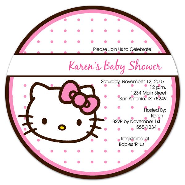 Hello Kitty Baby Shower Invitation Free