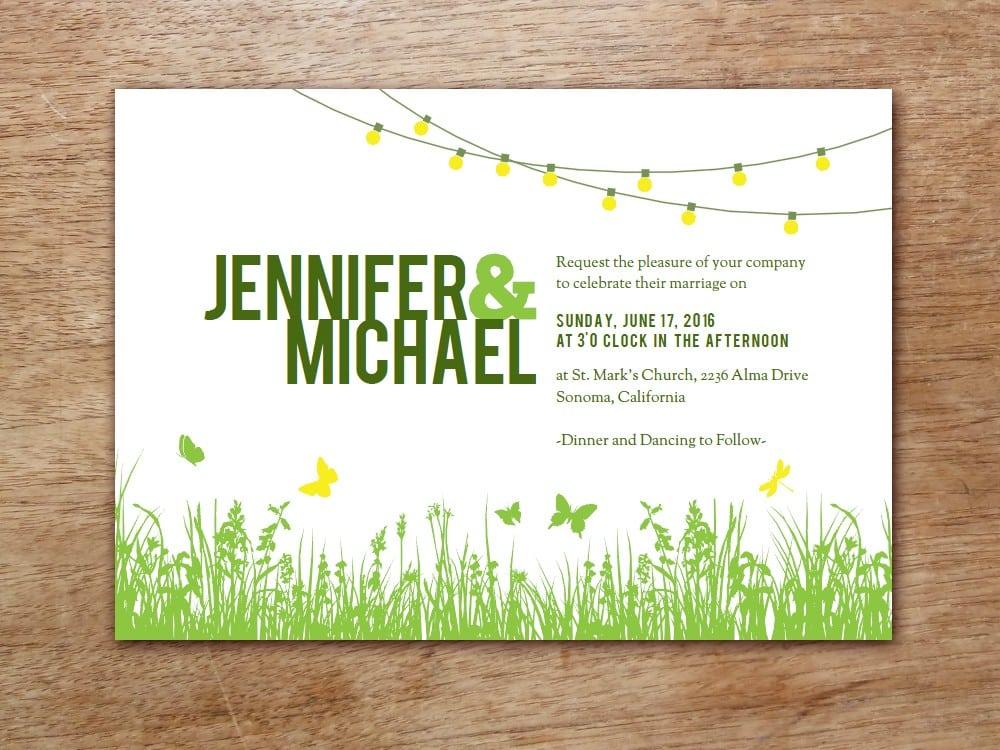 Free Invitation Template Backyard Party