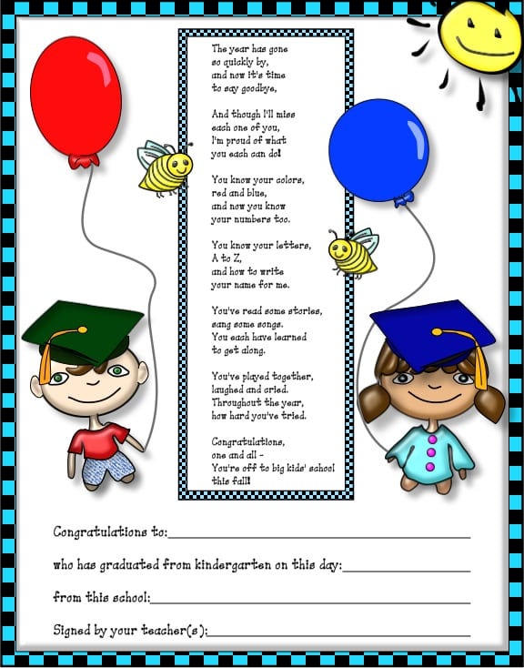 Free Kindergarten Graduation Announcement Template