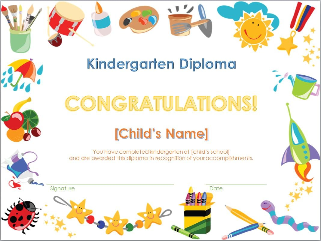 Free Kindergarten Graduation Invitation Templates