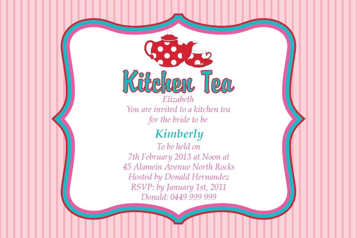 Free Kitchen Tea Invitation Templates
