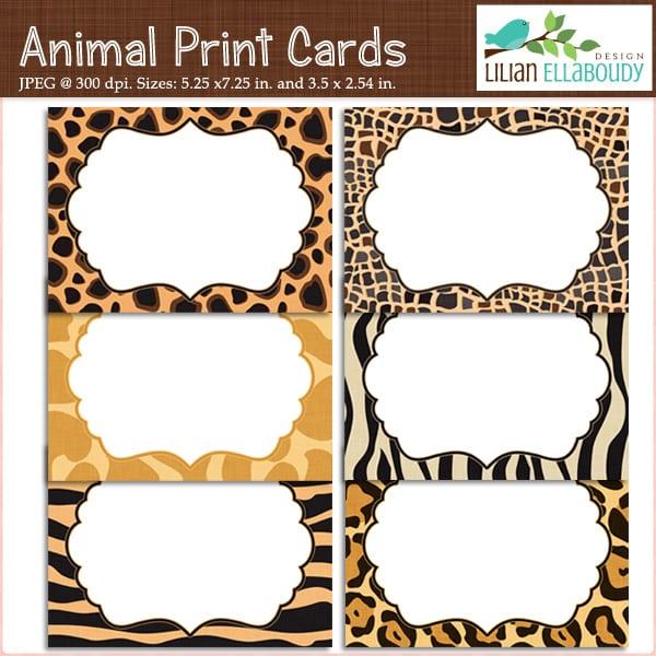 Free Leopard Invitation Template